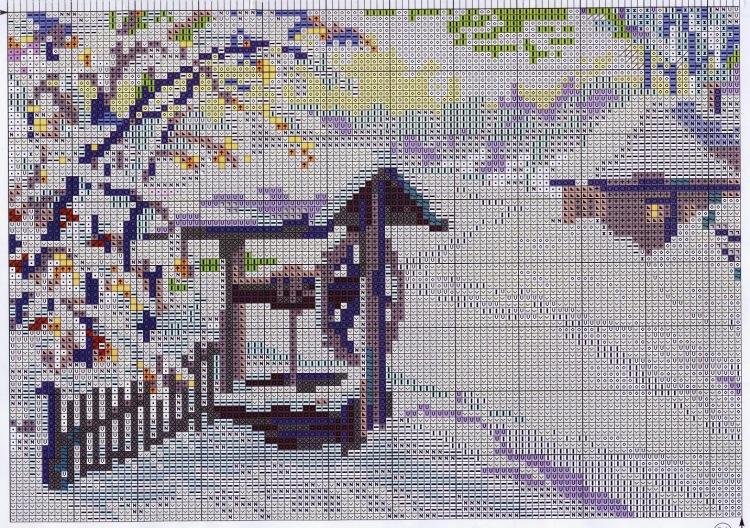 Схема вышивки риолис пейзажи 9
