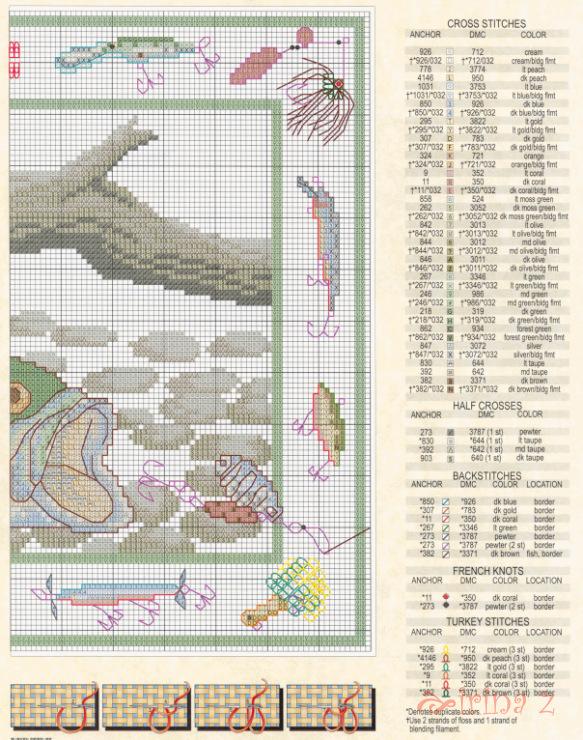 вышивка крестом рыбалка схемы фото