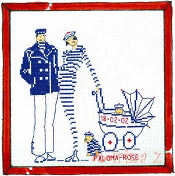 Схема вышивки морячка 2