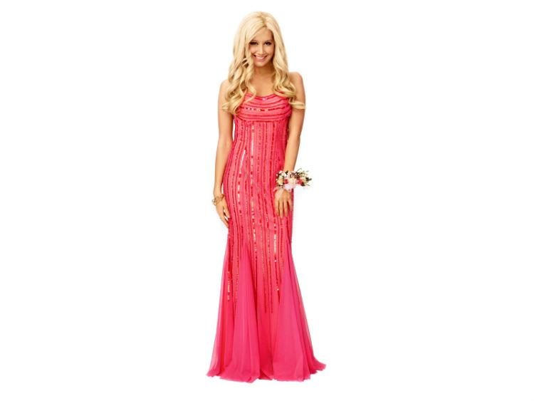 Фото девушка блондинка в вечернем платье