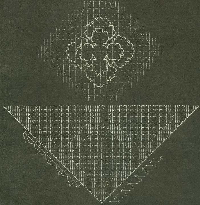 Вязание из цветочных мотивов крючком схемы 92