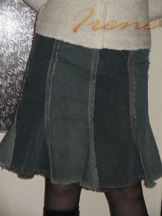 Сшить прямую юбку своими руками из старых джинсов
