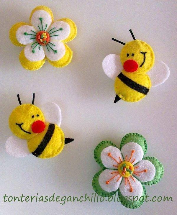 Пчелка из фетра своими руками с выкройками