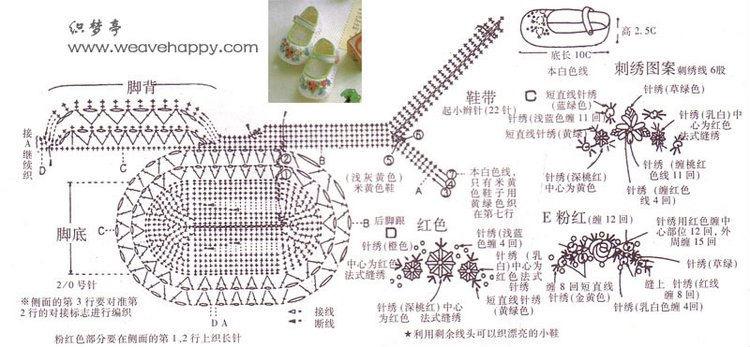 Схема вязание пинеток для девочек
