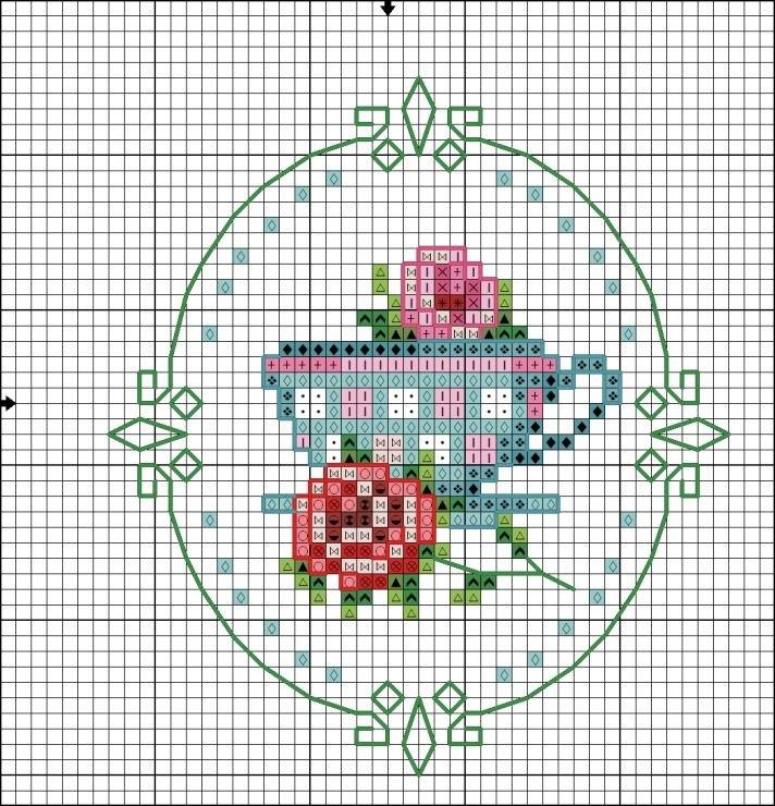 Схемы миниатюрных вышивок крестиком