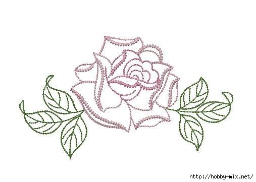 Шаблоны розы для вышивки 58