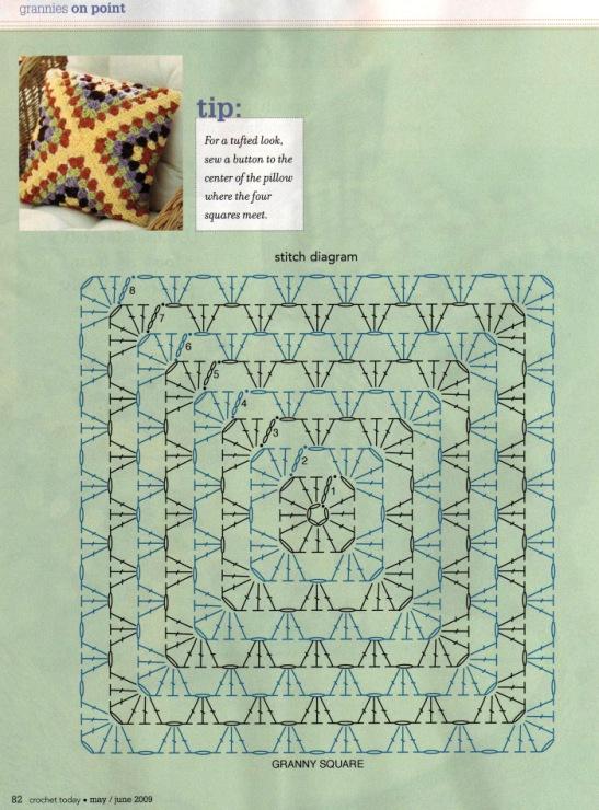 Схема вязания крючком подушек на диван 61