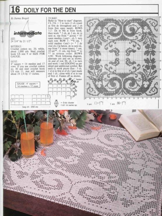 Необычное филейное вязание
