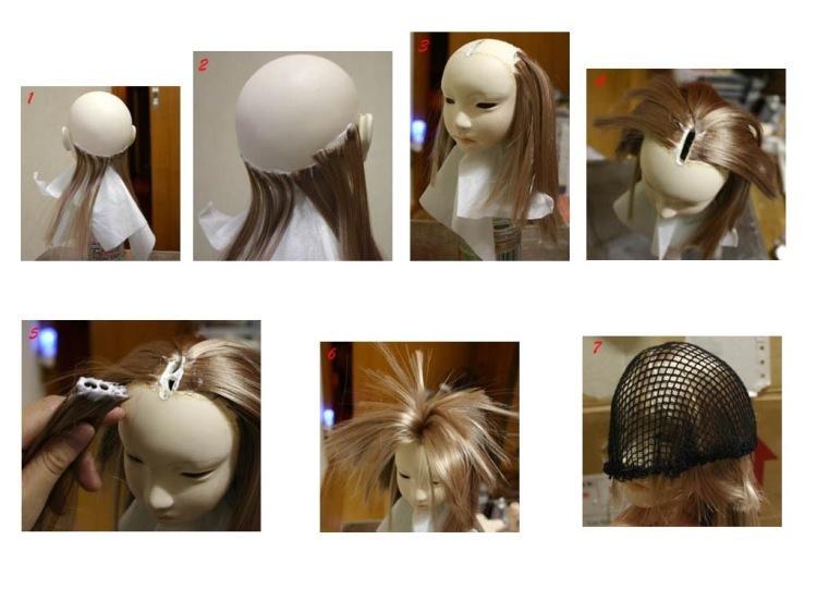 Кукла из пластика волос