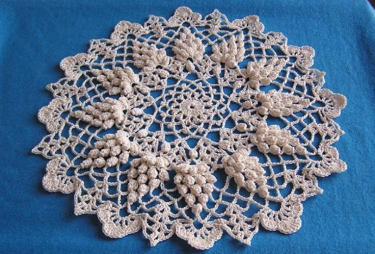 Самый красивые вязание салфетки 601