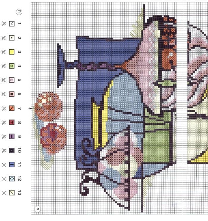 Вышивка крестомабстракция 11