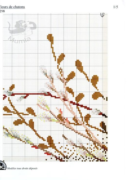 Схемы вышивки «ветка» - Вышивка крестом 72